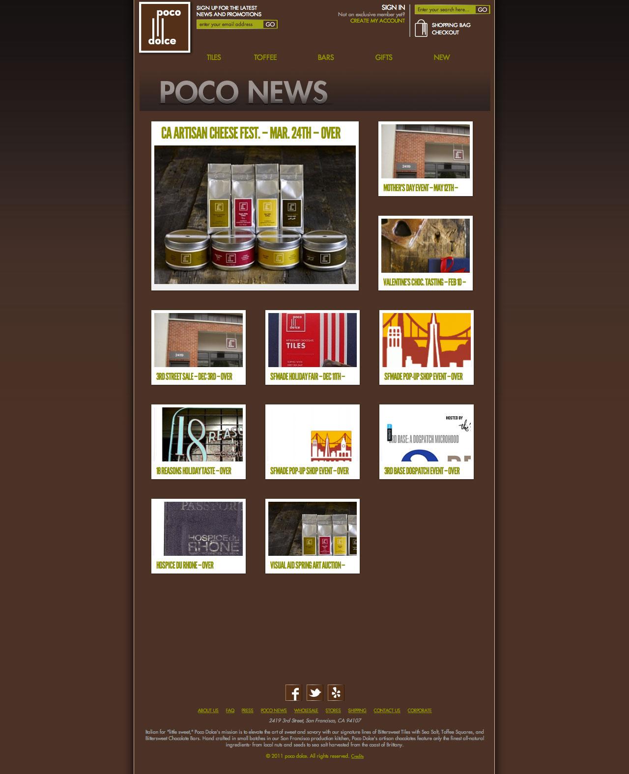 Poco Dolce News