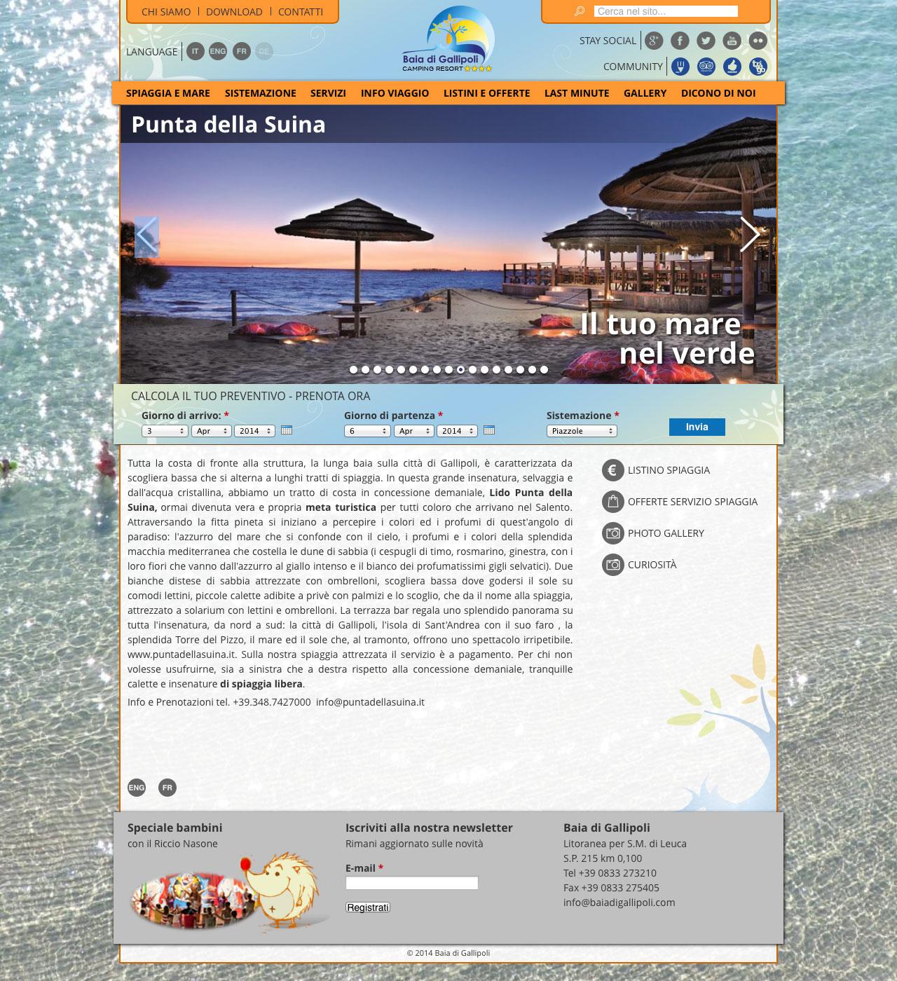 Baia di Gallipoli spiaggia